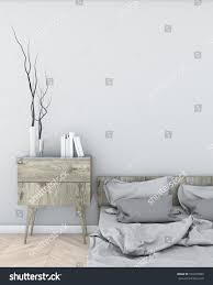 mock light bedroom modern style interior stock illustration