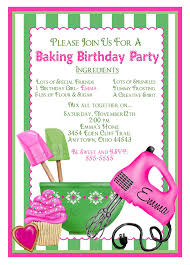 baking birthday invitations preppy baking kitchen