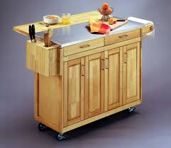 Kitchen Islands With Legs Kitchen Island With Unpolished Teak Wood Plus Stainless Steel Top