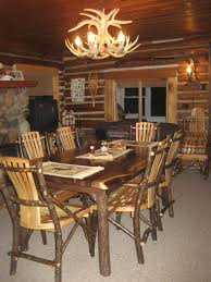 rustic log dining