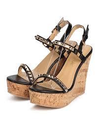 new women liliana ronnie 1 leatherette open toe stud slingback