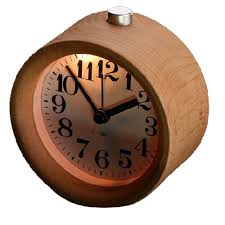 amazon com glomarts round wooden silent desk alarm clock with