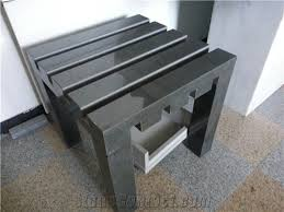 black granite chairs bench art works landscaping stone from china