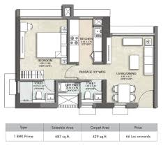 1 bhk floor plan 1 bhk kalpataru immensa at floor plan price location map