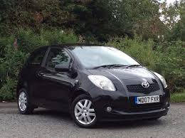 toyota yaris 2007 black 2007 toyota yaris 1 3 vvt i tr black 3 door hatchback only 62k