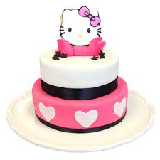 hello kitty themed birthday cakes