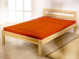 4 ft small double pine bed frame with thick memory foam mattress