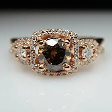 layaway engagement rings 1 29ct fancy brown three gold engagement ring