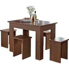 Buy Legia Walnut Space Saving Dining Table And  Stools At Argos - Argos kitchen tables