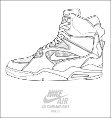 nike air command force basketball shoes coloring pages enjoy