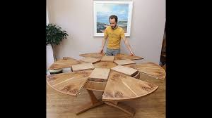 expanding circular dining table youtube