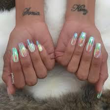 clear iridescent nail trend popsugar beauty