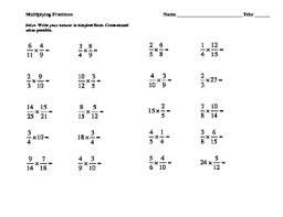 awesome collection of multiplying and dividing fractions