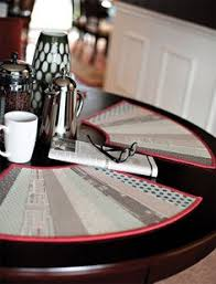 quilted placemats for round tables sewing curved placemats for a round table sewing pinterest
