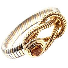 stainless steel gold bracelet images Cartier citrine stainless steel gold hercules knot bracelet for jpg