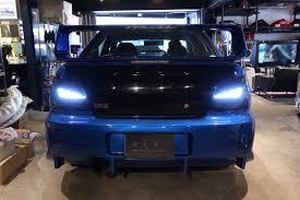 subaru wrx custom blue car shop glow subaru impreza wrx sti gda gdb led tails final