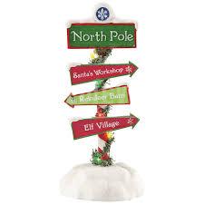 possible dreams santas santa s pole sign christmas figurine by possible dreams