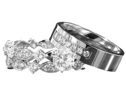 wedding sets his and hers wedding ring sets for his and marifarthing wedding
