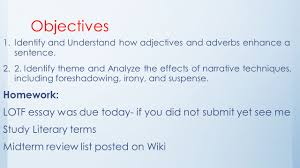 Identifying Adverbs And Adjectives Worksheets Day 39 Foundations U2013 The Sniper And Adjectives Adverbs Ppt Download