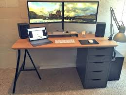 Small Corner Desk With Drawers Small Computer Desk With File Drawer Desktop On Wheels Corner