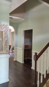 behr flora n390 2 and behr snow fall w f 600 this is what the