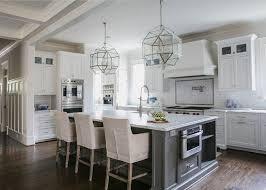 white kitchen cabinets grey island white and gray kitchen designed by jackbilt homes home