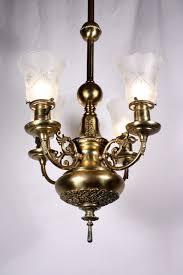 Victorian Chandelier For Sale Splendid Antique Four Light Brass Victorian Chandelier 19th