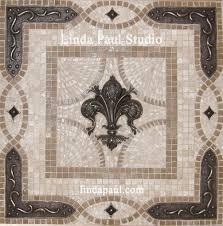 Fleur De Lis Backsplash Tile Mosaic Medallion Mosaics Art Mural - Tile mosaic backsplash