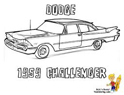 dodge cool car coloring grandpappy 1959 dodge silver challenger
