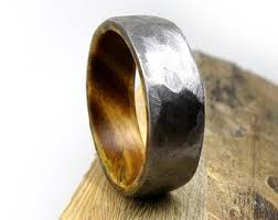 Mens Gunmetal Wedding Rings by Mens Wedding Ring Etsy
