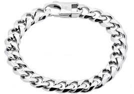 mens black link bracelet images Stainless steel men 39 s link bracelet black bjs10b jpg