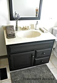 how to update oak and brass bathroom fixtures with spray paint and