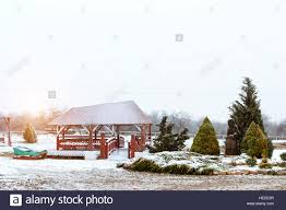 lithuanian countryside snowy winter baltic rustic architecture