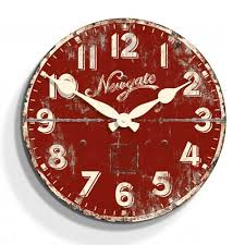 Antique Red Kitchen Cabinets by Ice Cream Factory Wood Wall Clock Antique Red Jackson Misc