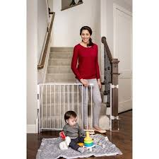 Baby Gates For Top Of Stairs With Banisters Regalo Extra Tall Stairway Baby Gate 27