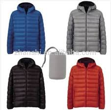 ultra light down jacket in a bag outdoor waterproof fashion western foldable down filled duck jacket
