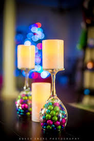 decorative candle holders and wraps christmas centrepieces