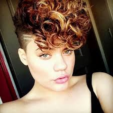 curly shaved side hair fancy shaved side hairstyles with curly hair photo hairstyle