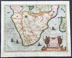 Southern Africa Map 1641 Blaeu Large Old Antique Map Of Southern Africa Aethopia