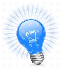 blue free light bulbs filament light bulb with beams royalty free vector clip art image