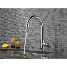 Closeout Kitchen Faucet Delta Faucet 9159 Dst Trinsic Polished Chrome Pullout Spray