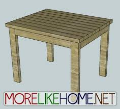 Build A Small End Table by More Like Home Day 30 Build A 2x4 Craft Table