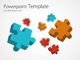 3d templates for powerpoint 3d colorful puzzle powerpoint template slidesbase