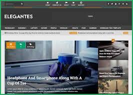 elegantes responsive free blogger template blog design