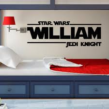 star wars wall decal star wars boys name wall decals jedi zoom
