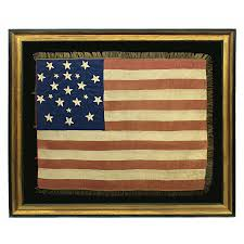 Flag With Yellow Star Jeff Bridgman Antique Flags And Painted Furniture Exceptionally