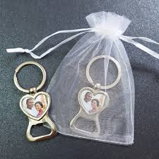 personalized bottle opener wedding favor personalized wedding favors and gifts heart shaped photo key ring