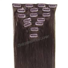 real hair extensions clip in 18 inch 2 brown clip in remy human hair extensions 7pcs