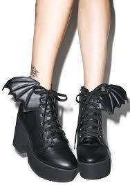 iron bat wing platform boots dolls kill