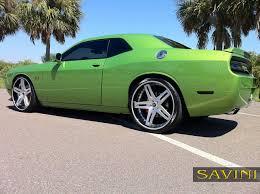 Dodge Challenger Green - challenger savini wheels